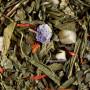 Thé vert macaron cassis violette