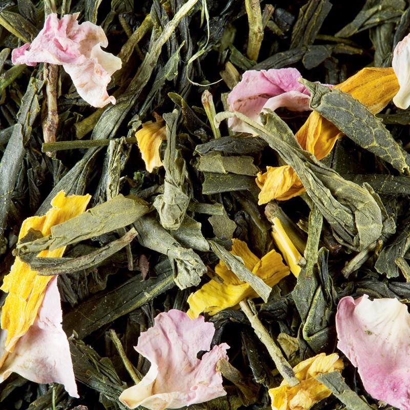 thé vert pêche