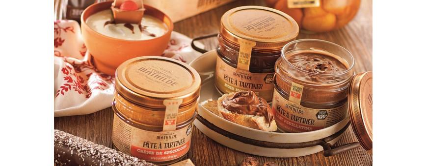 Grand choix de pâtes à tartiner - Secret des Arômes