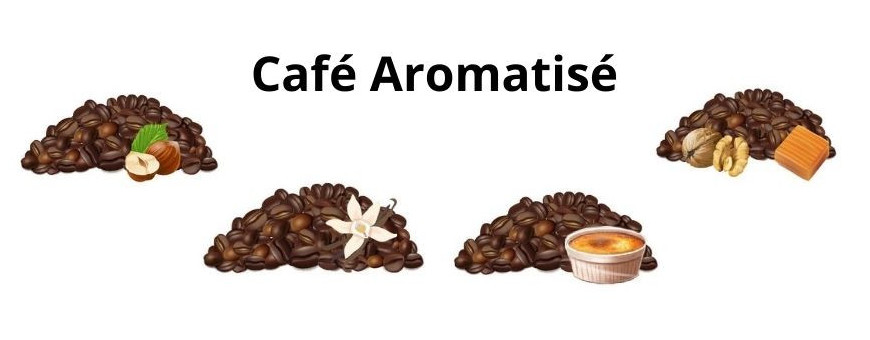 Café aromatisé en grain ou moulu